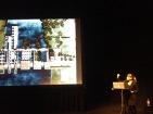 Renée Daoust, of Montreal based Daoust Lestage Architecture + Urban Design, lecturing at the LSPU Hall.